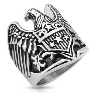 New stainless steel Eagle ring size 11
